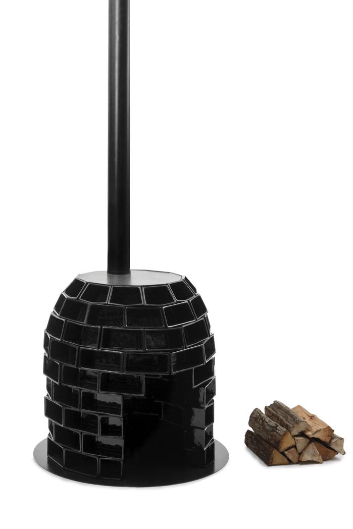 Poële en briques de Cofalit: ©Marie Flores